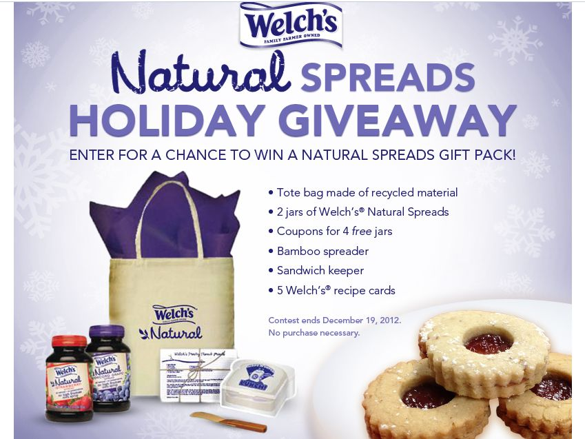 Welch's Natural Spreads Holiday Giveaway