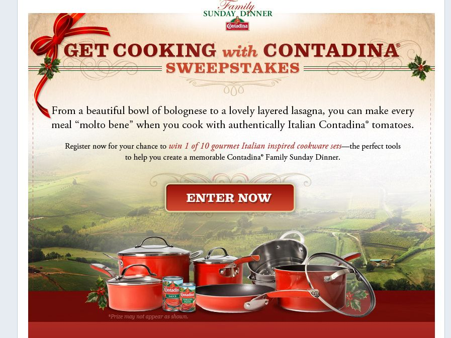 Get Cooking With Contadina Sweepstakes