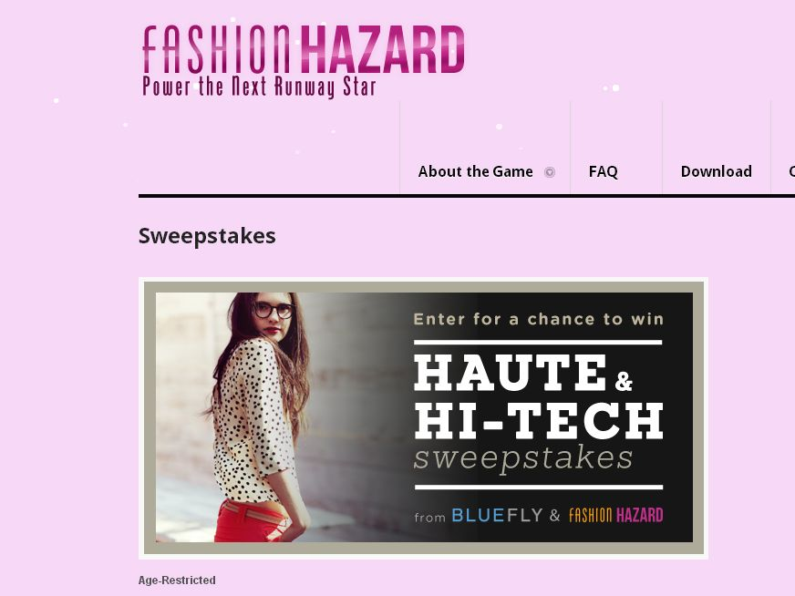 Fashion Hazard Power the Next Runway Star Promotion