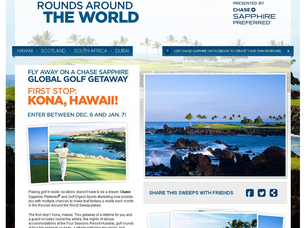 Chase Rounds Around the World: Hawaii