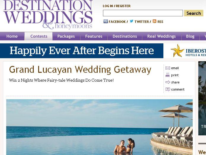 Grand Lucayan Wedding Getaway Sweepstakes