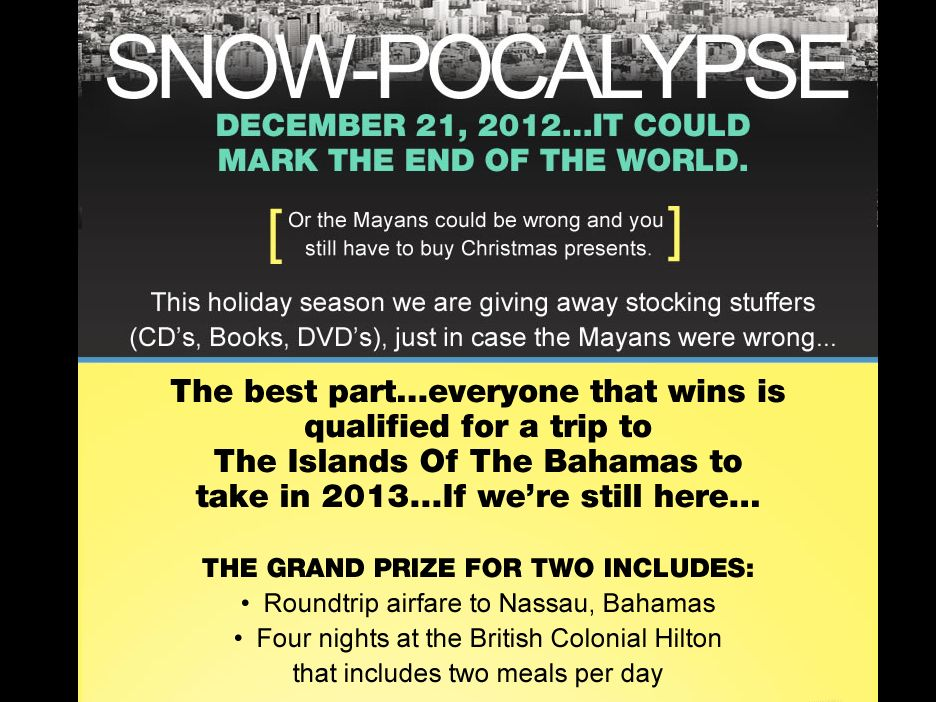 Snow-Pocalypse Promotion Sweepstakes