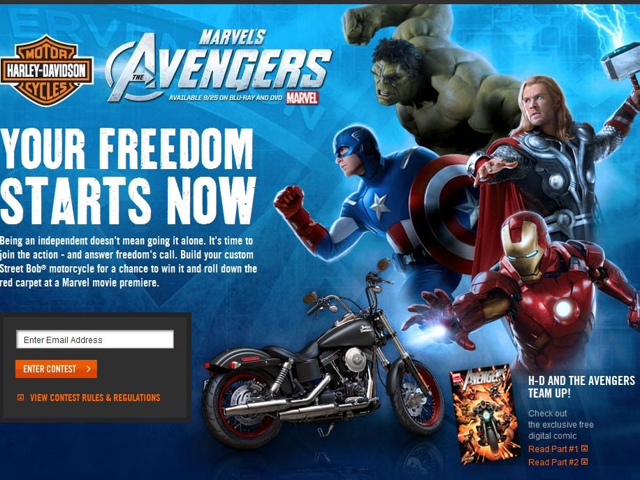 H-D and Marvel: Answer Freedom's Call Contest