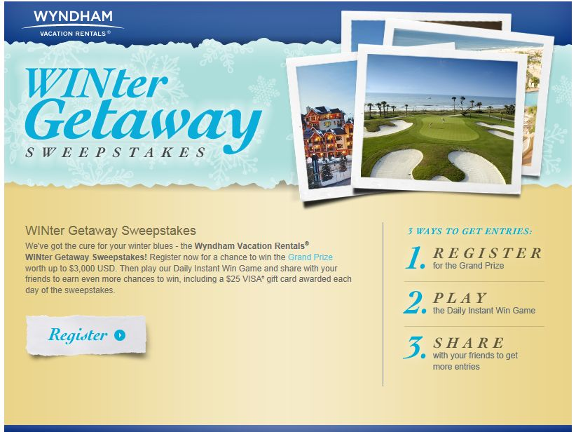 Wyndham Vacation Rentals WINter Getaway Sweepstakes