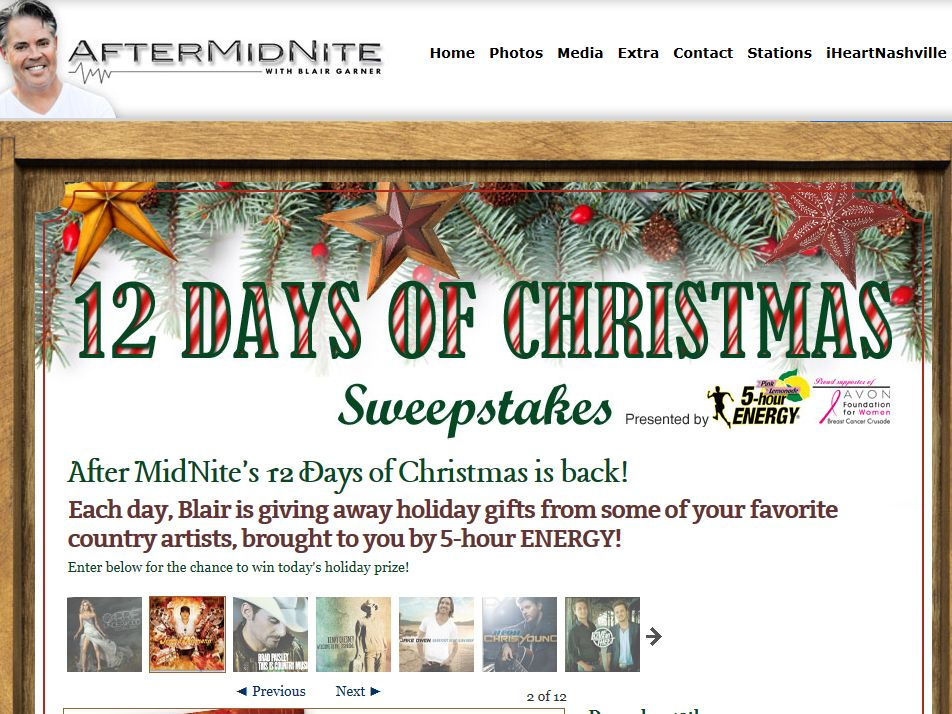 After MidNite's 12 Days of Christmas Sweepstakes