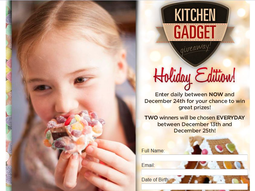 Russell Hobbs Kitchen Gadget Giveaway Holiday Sweepstakes