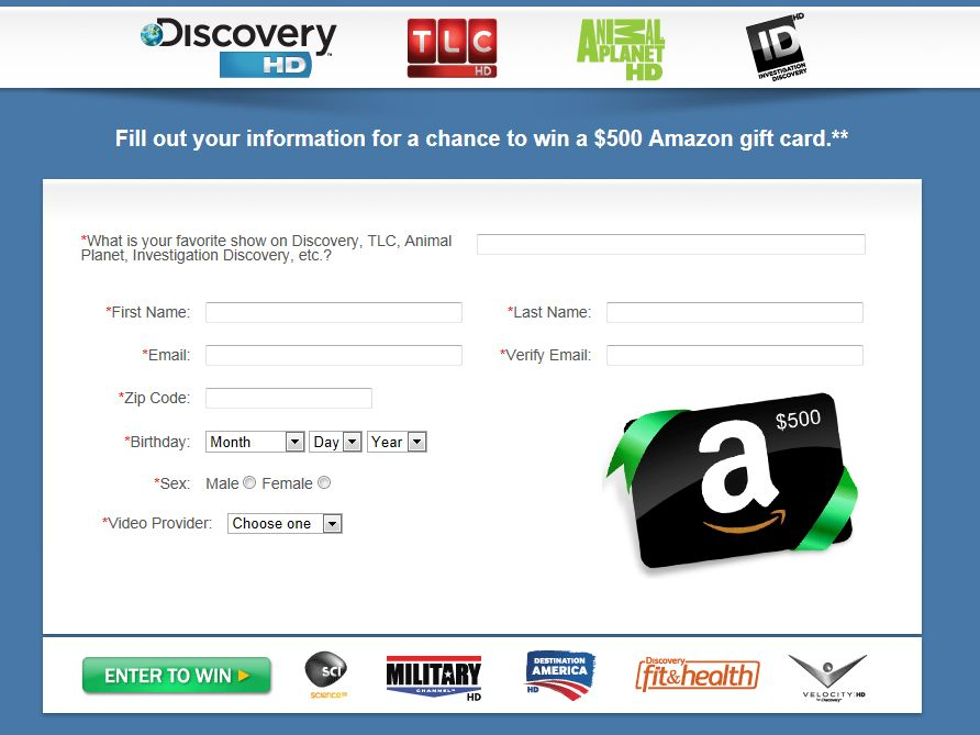 Discovery Holiday Sweepstakes