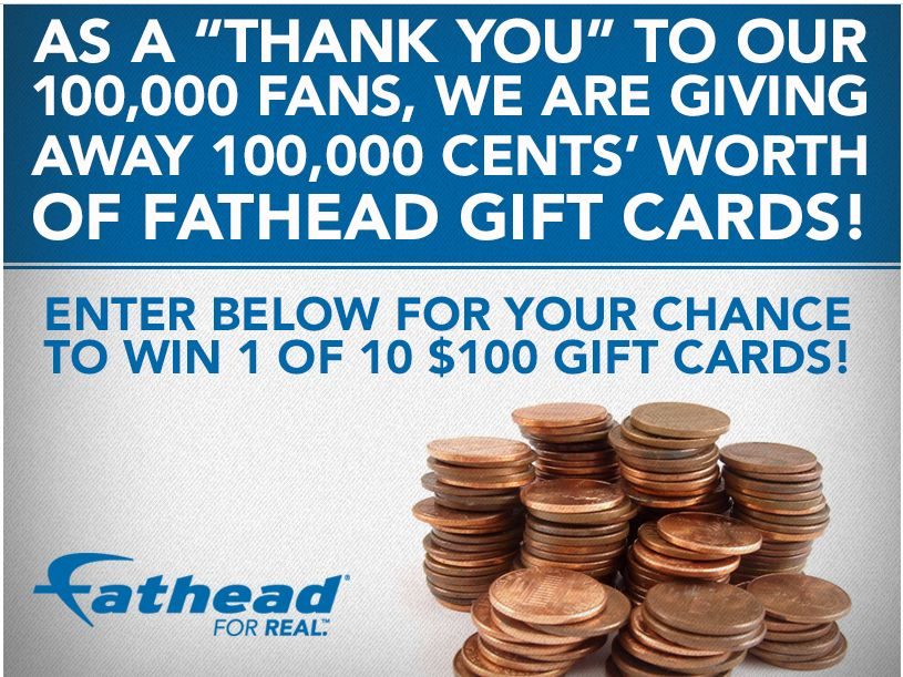 Fathead's One Hundred Thousand Cents Sweepstakes
