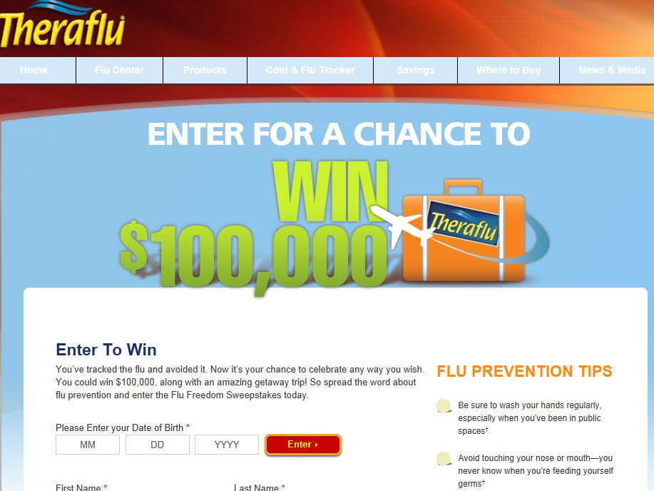 Theraflu Flu Freedom Sweepstakes