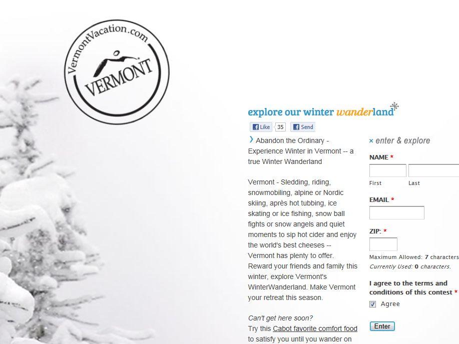Vermont Winter Wanderland Online Giveaway