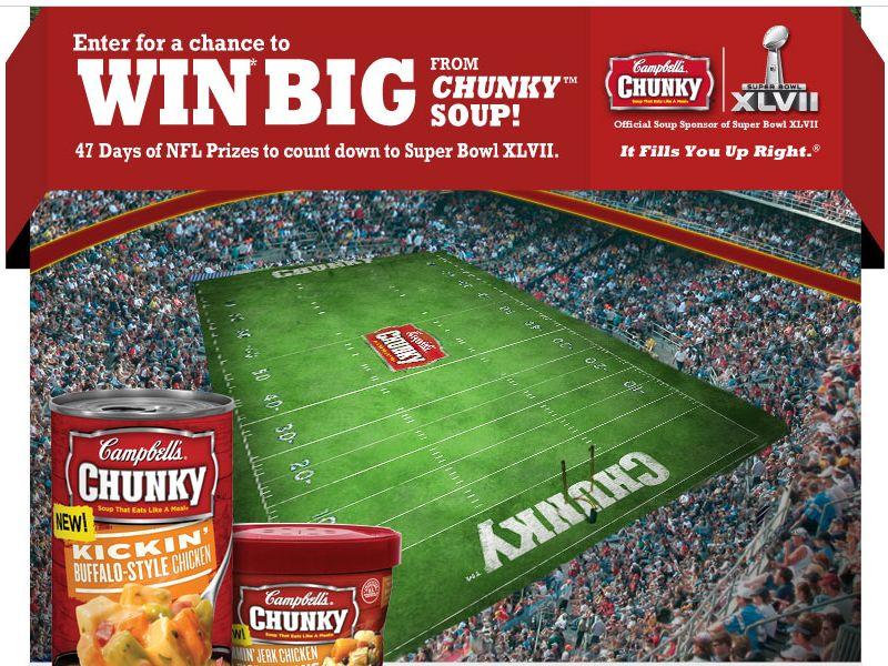 Chunky Super Bowl XLVII Countdown Sweepstakes