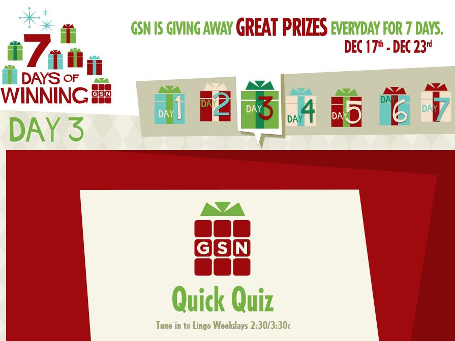 GSN 7 Days of Winning Sweepstakes