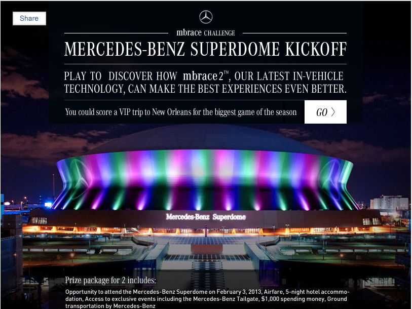 Mercedes-Benz Superdome Kick-Off Sweepstakes