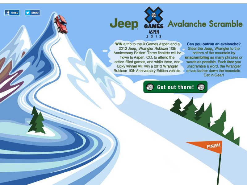 Jeep X Games Avalanche Scramble Sweepstakes