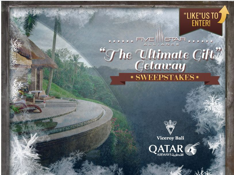 Five Star Alliance Trip To Bali Sweepstakes