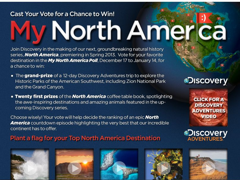 Discovery Channel's My North America Sweepstakes