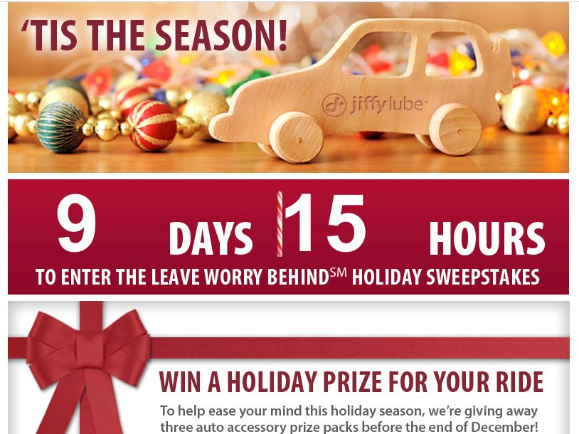Jiffy Lube Holiday Sweepstakes