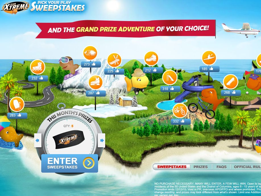 Pepperidge Farm Goldfish Team Xtreme Pick Your Play Sweepstakes