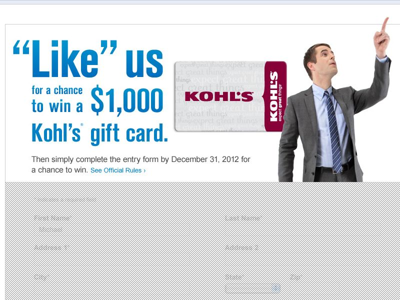 Chase Freedom $1,000 Gift Card Sweepstakes