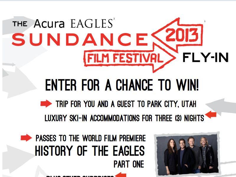 Acura Sundance Film Festival Fly-In Sweepstakes