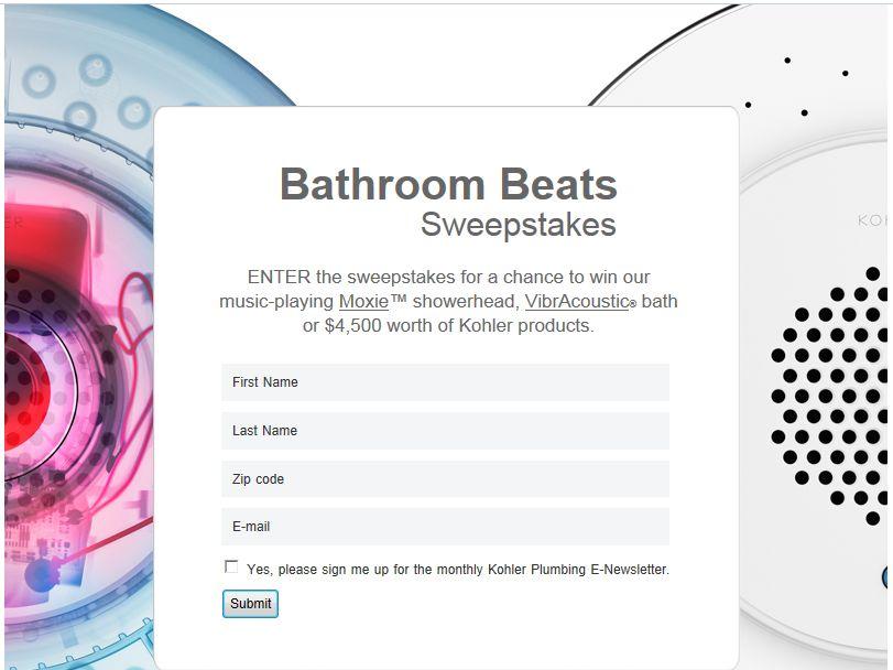 Bathroom Beats Sweepstakes