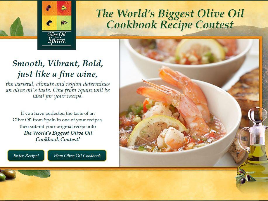 World's Biggest Olive Oil Cookbook Contest