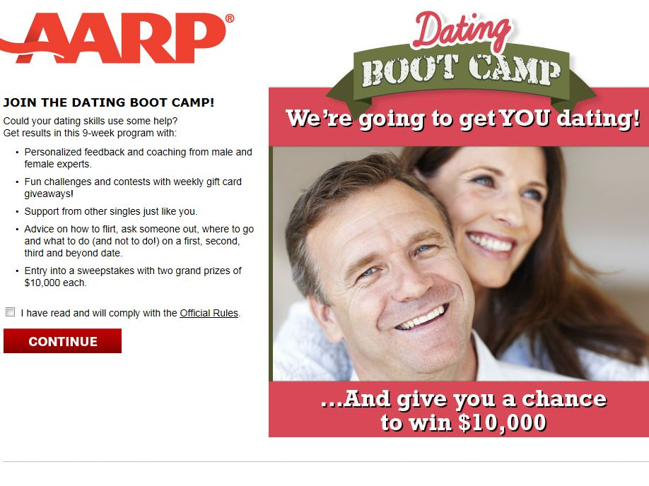 AARP Dating Boot Camp Sweepstakes