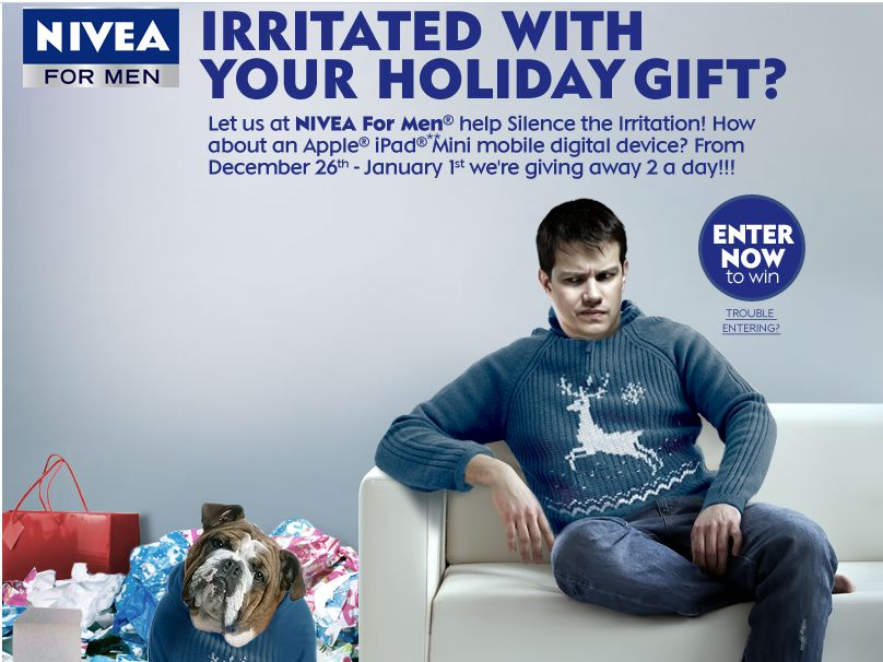 NIVEA FOR MEN Holiday Sweepstakes