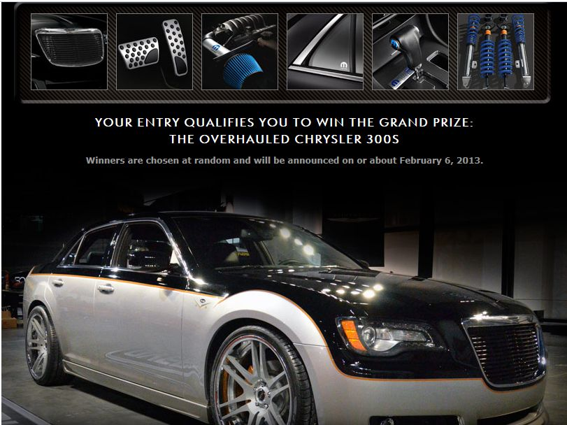 Chrysler 300 Overhauled Sweepstakes