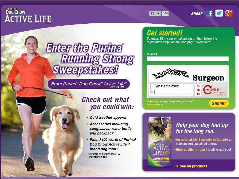 Purina Running Strong Sweepstakes
