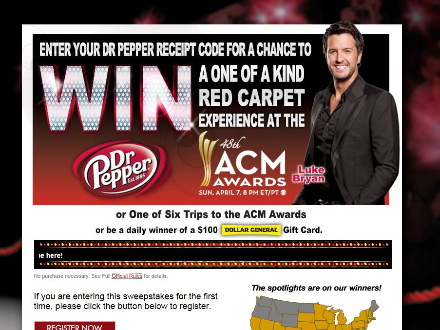2013 Dr Pepper Academy of Country Music Awards Promotion