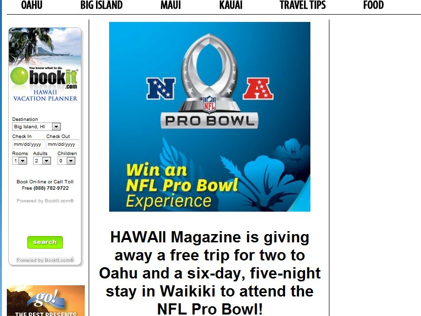 HawaiiMagazine Win an NFL Pro Bowl Experience Sweepstakes