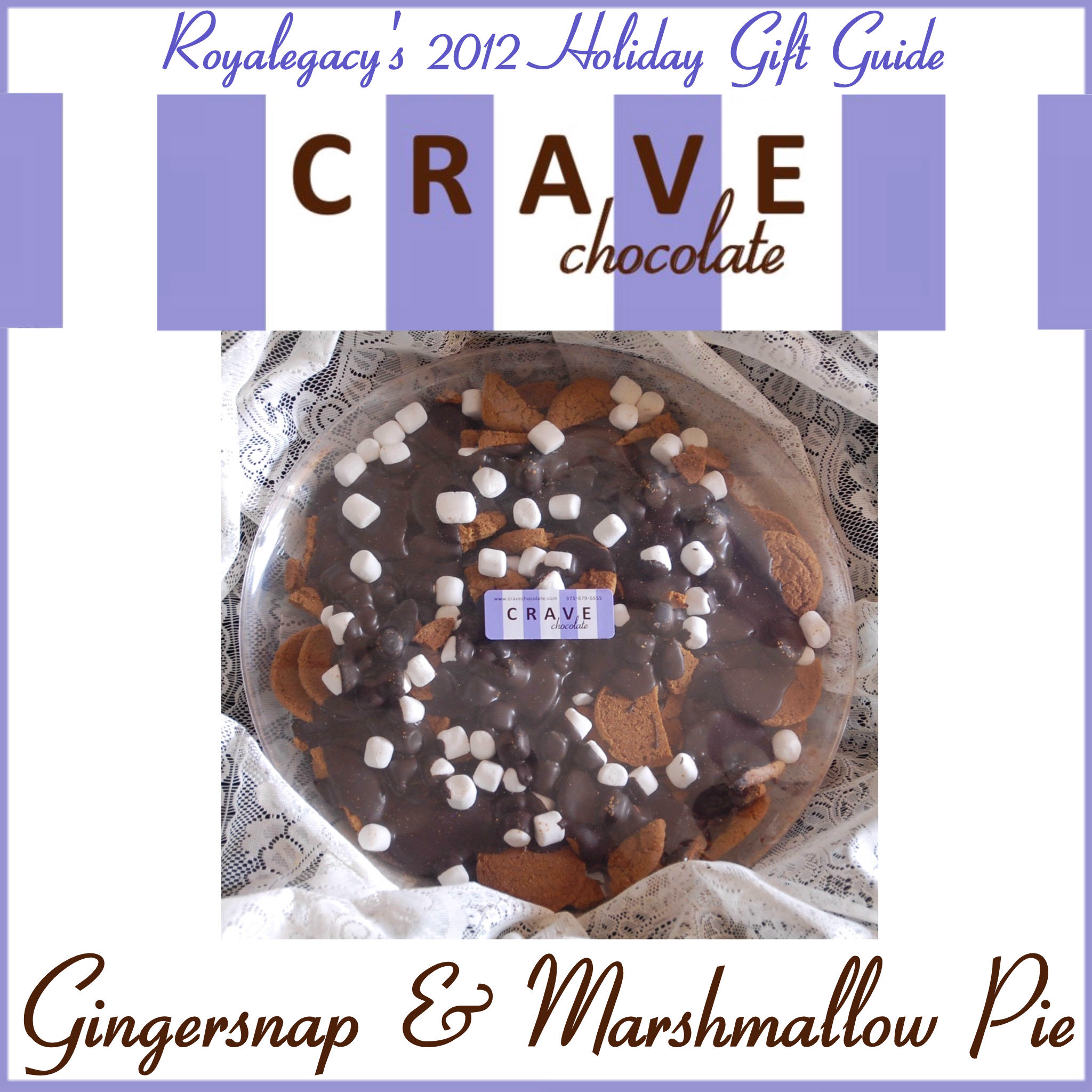 Crave Chocolate's Gingersnap & Marshmallow Pie