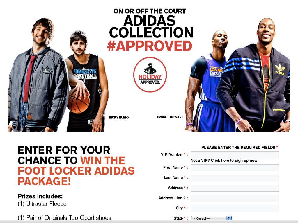 Foot Locker Adidas Sweepstakes