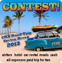 all expenses paid 7 days Road Trip during Spring Break 2013