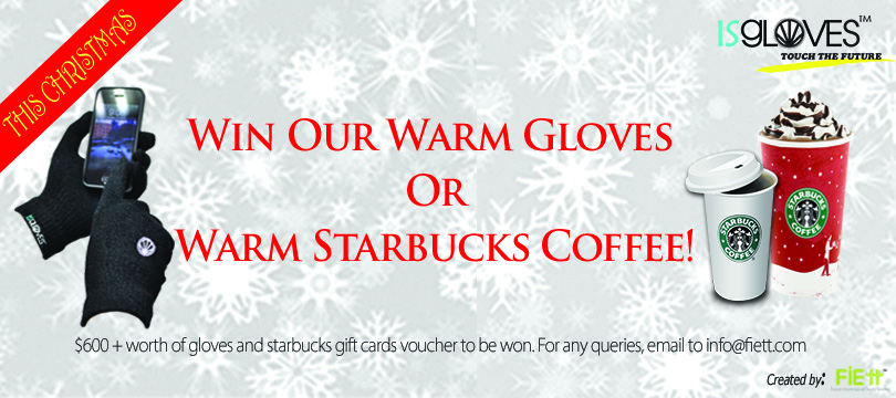 Starbucks Giftcards and Touchscreen Gloves