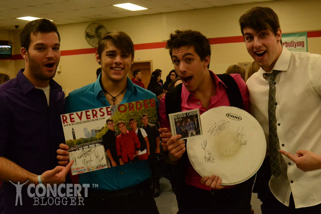 WIN Autographed Items + CD from the band REVERSE ORDER (seen on America's Got Talent)