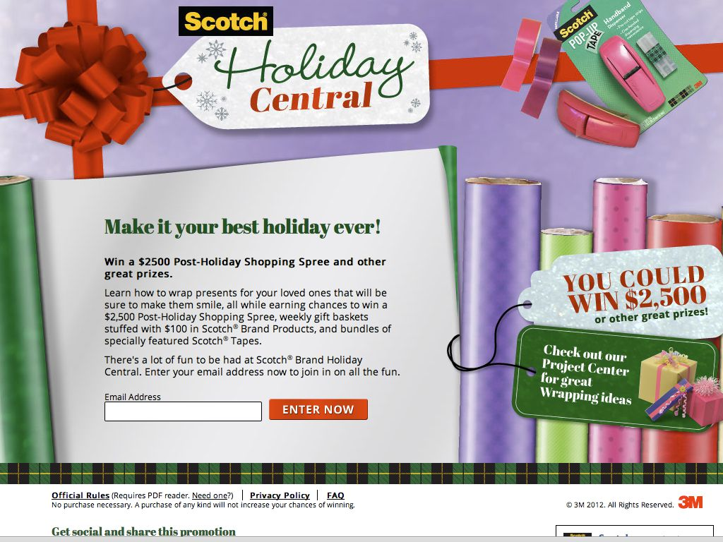 Scotch® Brand Holiday Central Sweepstakes