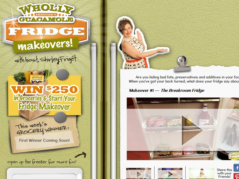 Wholly Guacamole Fridge Makeover Sweepstakes