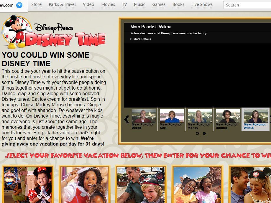 Disney Parks Disney Time Sweepstakes