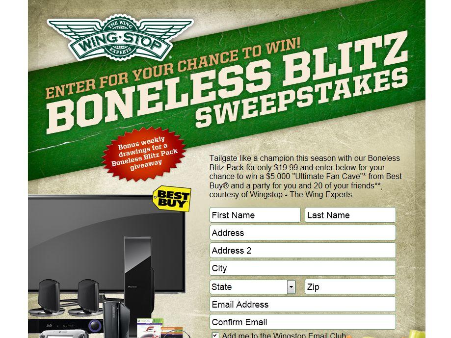 2013 Wingstop Boneless Blitz Sweepstakes