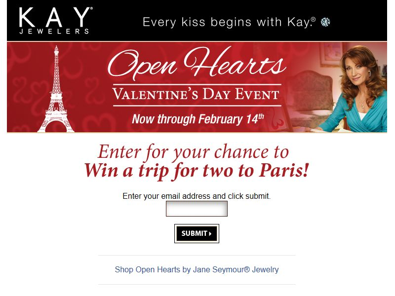 Open Hearts Valentine's Day Event Sweepstakes