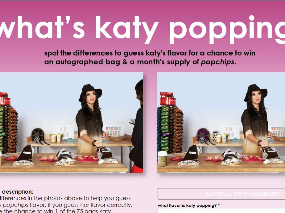 What's Katy Popping? Sweepstakes