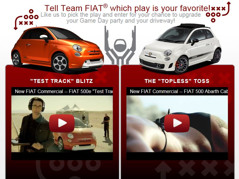 FIAT Call The Play Sweepstakes