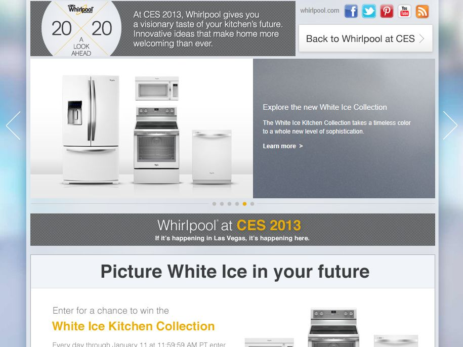 Whirlpool CES Sweepstakes