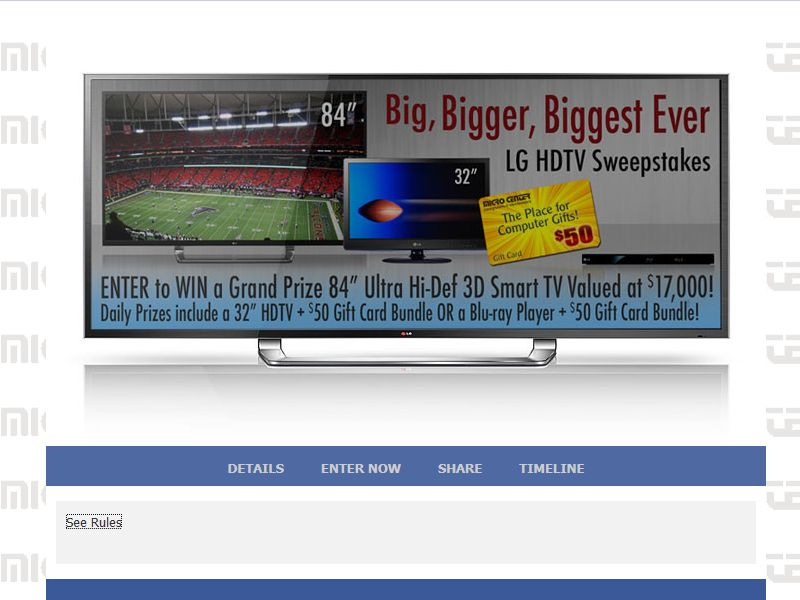 Micro Center's Big, Bigger, Biggest Ever LG HDTV Sweepstakes