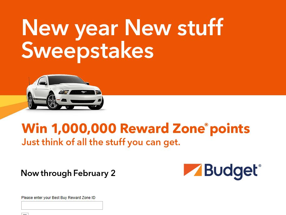 Budget New Year, New Stuff Sweepstakes