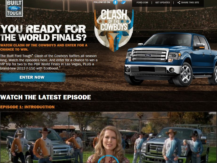 2013 Built Ford Tough Clash of the Cowboys Sweepstakes
