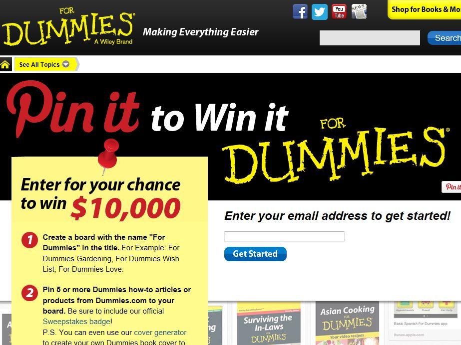 For Dummies Pinterest Sweepstakes