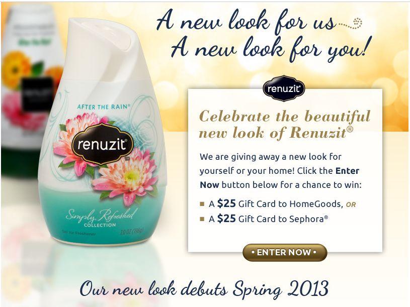Renuzit New Look Sweepstakes